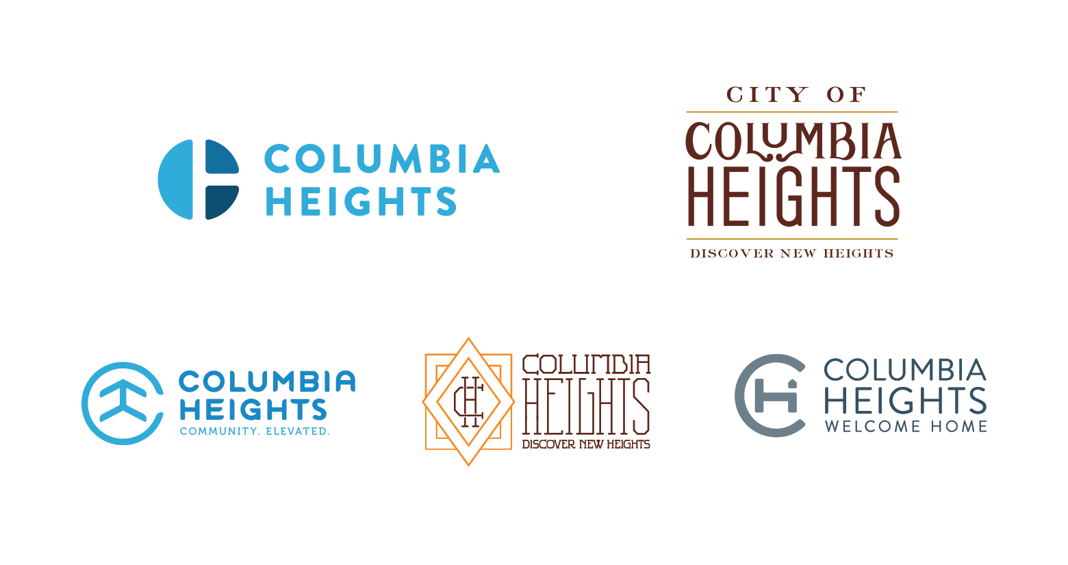 We executed some versions that modernized the previous Columbia Heights  identity and some that were more adventurous and based on vintage  typography. 2ec743921f5a7